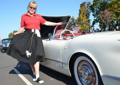 Christine Kelly and car