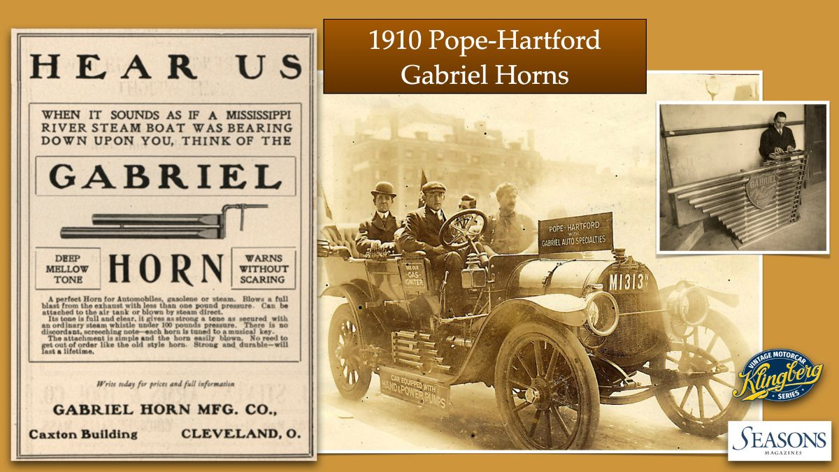 1910 Pope-Hartford Gabriel Horns