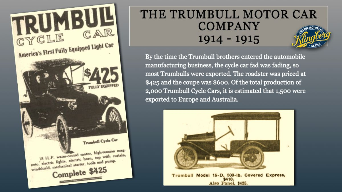 Trumbull Cycle Car Advertisements