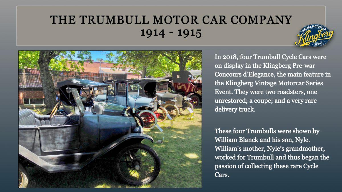 Trumbull Motor Car Company 1914-15