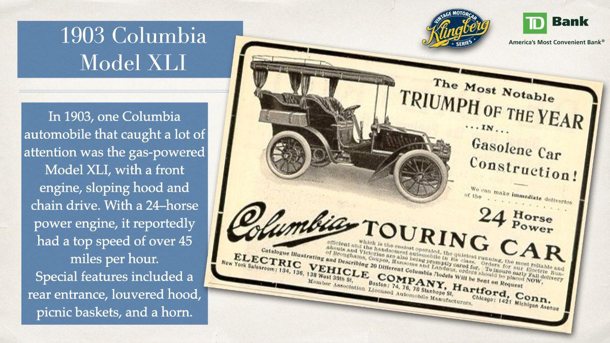 1903 Columbia - Model XLI