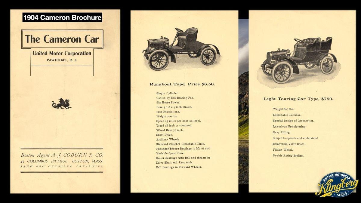 1904 Cameron Brochure