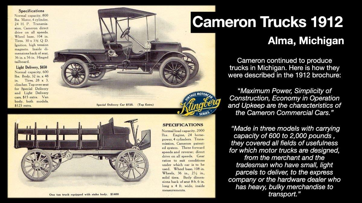 Cameron Trucks 1912